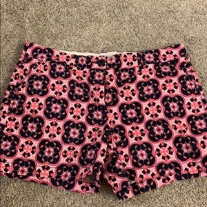 Ladies Crown and Ivy Pink and Navy Shorts